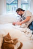 D296 / Y6. (evilibby) Tags: jack arthur barnabee baby newborn cat gingercat bedroom bed project365
