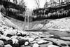 Minnehaha Falls (jperkin1994) Tags: water monochrome blackandwhite minnehaha falls minnesota minneapolis winter snow cold rocks waterfall icicles rock cliff