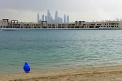 Rainy day in Dubai (domit) Tags: dubai uae rainy day thepalm atlantis beach isaac skyline