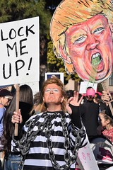(ONE/MILLION) Tags: downtown phoenix arizona woman women march across america rights politics equality human signs protest demonstrations unitedstates politicians vote mid term elections fight girl williestark onemillion city streets resist pussy vigina power trump wall borders daca win loose hate great republicans democrats suck