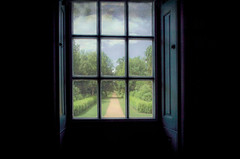 To be on the outside (Sarah Fraser63) Tags: windowswednesday window view pane frame wrestpark bedfordshire