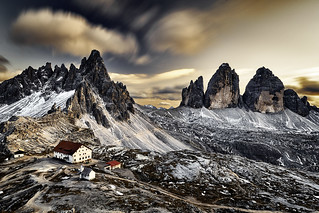 Tri cimes Dolomites Italie
