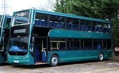 Mortons Travel, Tadley 'Eleanor'  E13 BUS at Little London depot. (Gobbiner) Tags: myllennium pn52xkh mortonsoftadley 3 blackburntransport e13bus dennis 213onu blackpooltransport 335 trident eastlancs lolyne