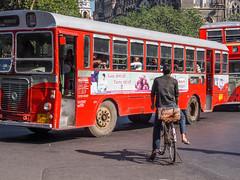 LR Mumbai 2015-544 (hunbille) Tags: bicycle birgittemumbai5lr india mumbai bombay fort hutatma chowk martyrs square martyrssquare flora fountain florafountain bus