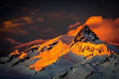 Aiguille des Glaciers (nic_r) Tags: aiguilledesglaciers aiguille glaciers alps alpine alp mountain mountains sunset clouds orange landscape