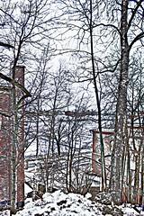 Winter. (53Hujanen) Tags: lappeenranta finland suomi scandinavia skandinavia winter talvi landscape maisema maisemakuva cityscape urban kaupunki kotikaupunki hometown satama harbour snow ice canon canoneos700d kitlens canonefs1855mmf3556isstm photoshop photoshopped digitalart digitalarts skecthing pencilsketch