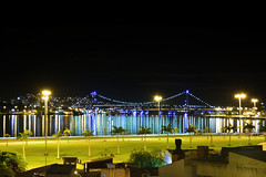 Florianópolis (✿ Debora ✿) Tags: florianópolis sc santacatarina fotonoturna ponte bridge luzes lights nikond5200 iluminação beleza estreito brasil
