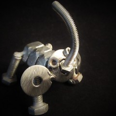 Elephant Sculpture (jefalump) Tags: macro sculpture fasteners macromondays elephant