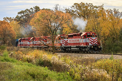 Out Of The Woods (sdl39hogger) Tags: wsor watco wisconsinsouthern waukeshasub emd electromotivedivision sd402 palmyra wisconsin canon canont6i