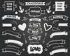 "Chalkboard Clip Art  ""CHALKBOARD BANNERS II"" pack with chalkboard banners, chalkboard ribbons.(+ black & green chalkboard background) (Digiworkshop) Tags: etsy digiworkshop scrapbooking illustration creative clipart printables cardmaking chalkboard banners ribbons tags school chalk"