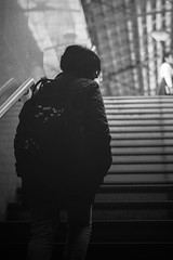 Stairs (fransaan) Tags: black white blackandwhite street photo streetphotography monochrome 50mm 50mm18 nikon d3200 stairs railway