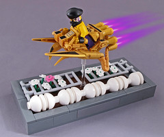 Kingpin (halfbeak) Tags: lsb legospeederbike lego minifig gold rebel