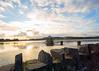 Sunset at the Reservoir (mpdphotograhy) Tags: cropston reservoir water lake sunscape sunset cloudscape movement longexposure sky sun canon 5d iii 1740 l lens beautiful