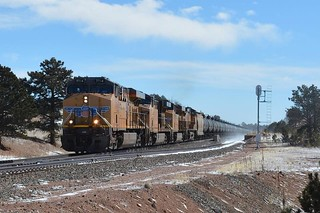 Give me a nice cold winters wind and lots of high plains railroading.....  Wanted to see some spots I have always read about and seen in countless images of ...HARRIMAN, on the new line over Sherman Hill. Despite the 60 mph gust and steady wind.