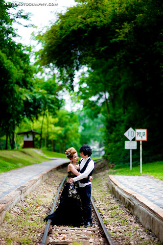 Thailand Tham Krasae Railway Station Engagement Session