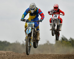 Chasing hard (Steve Barowik) Tags: yorkshire southyorkshire nikond500 nikkor barowik stevebarowik sbofls26 dx cropframe village doncaster donny adwick motocross uncleeddies jump motorbike bike unlimitedphotos wonderfulworld quantumentanglement 70200mmf28gvrii zoom england