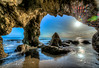 Malibu Sea Cave Beach Sunset California! Epic HDR High Resolution Fine Art Landscape Photography! (45SURF Hero's Odyssey Mythology Landscapes & Godde) Tags: epic high resolution photography fine art landscape nature light beams dr elliot mcgucken nikon wide angle nikkor zoom afs ed