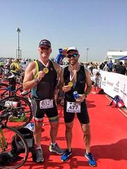 Post triathlon in Bahrain.
