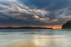 Cloudy Sunrise Seascape (Merrillie) Tags: daybreak sunrise nature australia uminabeach centralcoast morning sea newsouthwales waves earlymorning nsw waterscape beach ocean landscape water uminapoint coastal clouds sky seascape cloudy coast dawn outdoors