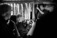 New Interpretations Orchestra (agataurbaniak) Tags: adambushell vibraphone alstrachan cornet andrewgreaves electricorgan chrisparfitt flute clivecraske percussion gusgarside doublebass rebeccaaskew roncaines altosaxophone sarajaneglendinning clarinet voice zqhygoem electricguitar alistairstrachan coachhouse moderncomposition improv freeimprov improvised improvisation music brighton uk unitedkingdom concert gig live performance event concertphotography eventphotography agataurbaniak 2018 leica m monochrom leicamonochrom typ246 type246 246 monochromatic blackandwhite blackwhite digital rangefinder cosina cosinavoigtlander voigtlandernokton50mmf11 voigtlandernokton5011 voigtlandernokton 50 50mm 11 f11 safehouse