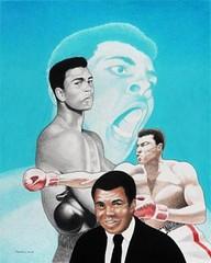 Muhammad Ali (The Art of Jay Thomas II) Tags: muhammadali ali boxing cassiusclay greatest prismacolorart colorpencilart drawing art artworks blackart