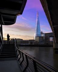 Rainbow Shard (JH Images.co.uk) Tags: london shard hdr dri sunrise skyscraper bridge walkway clouds riverthames steps