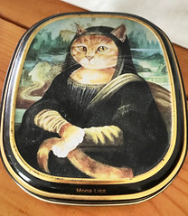 """You talk when you cease to be at peace with your thoughts."" ―Kahlil Gibran 🐈 (anokarina) Tags: monalisa cat portrait kitten kitty animal metal tin aluminum case appleiphone7 highlands louisville kentucky ky compact"