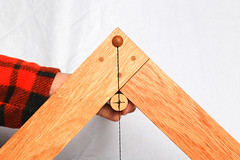 Libella - Finding the Centerpoint on a Rod (Mark Birkle) Tags: libella level image photo picture wood oak osage horse hair arabian tail triangle medieval tool plumb bob building construction trigonometry gravity geometry practical ancient old concept center string woodworking line past