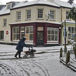 Victoria Street Alderney, in the snow thumbnail