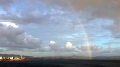 Rainbow and ship