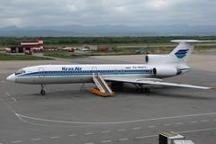 Красноярский Ту-154 (Viacheslav Smolensky) Tags: 2007 аэропорты командировки самолеты сахалин ту154 хомутово южносахалинск airunion krasair