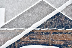 White Lines & Snow Flakes (Franck Baduel) Tags: snow neige flocons flakes superposition