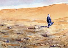 Imaginando dunas y desierto (f.gómezcorisco) Tags: castejao dibujo acuarela