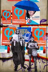 Patachons (fidgi) Tags: paris streetart affiche poster politic politique phi canon canoneos7d bleu blue orange mur wall