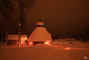 Little huts at night, Lapland, Finland - Cabanes dans la nuit, Laponie, Finlande (Pito Charles) Tags: lapland laponie finland finlande europa europe paysage landscape neige snow froid cold winter hiver journey trip voyage yllas yllasjarvi canon canoneos70d canon70d 70d 1018mm 1018 uga grandangle grand angle nuit night hutte hut cabin cabane light lumiere