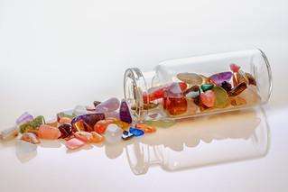Stones in a bottle