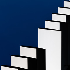 stairways to the sky (Glassholic) Tags: architecture abstract blue white explored minimalism color