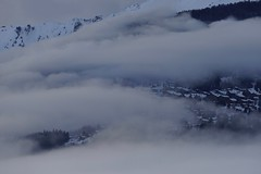 Mountain Village in the Clouds (Svend RS) Tags: sonyilce7m2 sonya7 alpha a7m2 70200mm sel70200g zoom telephotolens telephoto sel70200m4g fe70200mmf4goss snow winter cloud mountain mountainvillage