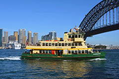 Charlotte approaching Milsons Point 2 (PhillMono) Tags: australia new south wales sydney dslr nikon d7100 ship boat vessel harbour circular quay reflection charlotte ferry milsons point