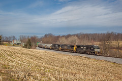 NS GE Dash 8-40CW #8330 @ Loretto, PA (Darryl Rule's Photography) Tags: 2018 csx cresson cressonsub diesel diesels emd ebensburg february ge grain helpers loaded loads loretto ns pa prr pennsy pennsylvania pennsylvaniarailroad pushers rjcorman railroad railroads sd402 shortline sun sunny train trains winter