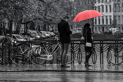 Rainy Day in Amsterdam (justenoughfocus) Tags: sonyalpha amsterdam europe monochrome netherlands streetphotography travel urban urbanexploration urbex noordholland nl