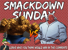 Smackdown Sunday- Thing VS Brick (Luigi Fan) Tags: marvel thing vs dc comics brick