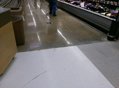 Kiss the floor tile goodbye :( (l_dawg2000) Tags: 2000 2000s christmas departmentstore discountstore grocery holidays holidays2013 mississippi ms olivebranch retail store supercenter wallyworld walmart xmas unitedstates usa