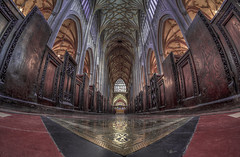 choose your path wisely devil and god is beside me (Wizard CG) Tags: st mary redcliffe church bristol england uk hdr samsung fisheye lens gothic architecture grade i listed building stained glass anglican parish epl7 ngc world trekker micro four thirds 43 aisle hall mosaic vault ceiling wood room people