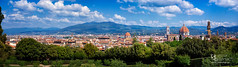 Florence (Michał Banach) Tags: florence italy toskania tuscany blue city cityscape clouds outdoor outside panorama rooftops sky włochy florencecathedral cattedraledisantamariadelfiore ilduomodifirenze colors
