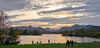 Evening gathering (Peter Leigh50) Tags: derwent water landscape lake lakes district keswick evening sky light people duck grass trees autume autumn october mountains hills fells fuji xt10 fujifilm countryside national english uk
