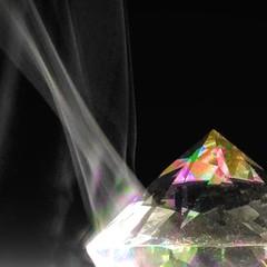 Smokey Stone, 6/100x (clarkcg photography) Tags: smoke light crystal colors macro macrowednesday wednesdaymacro 7dwf 100xthe2018edition 100x2018 image6100 squaremacro