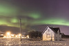 Aurora Borealis over old house (Role Bigler) Tags: canonef2035mmisusm canoneos5dsr sigma14mm18art troms arctic auroraborealis cold frozen greenlight house manfrottotripod mountains nordlicht norge northernlight norway oldhouse polarlicht sky snow wideangle winter