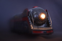 The Silver Arrow (mitchell_dawn) Tags: moderntoys moderntoysjapan steamengine express silverarrow vintage toy light batterypowered sixties 1960s 60s train locomotive