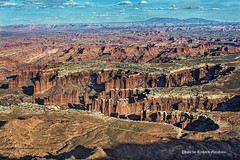 The Maze in Caynonland National Park (garofano_richard) Tags: sky clouds maze dirt rocks mountain nationalpark utah canyonlandnp trailsofthepast